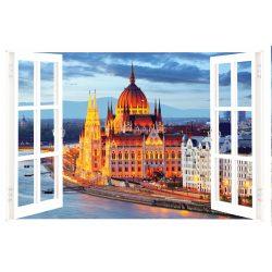 Budapest Orszaghaz, ablakos falmatrica - Dekoráció Webáruház