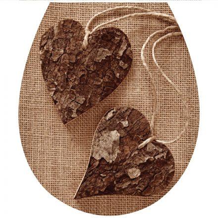 Fa szívek2, toalett díszítő matrica - Dekoráció Webáruház
