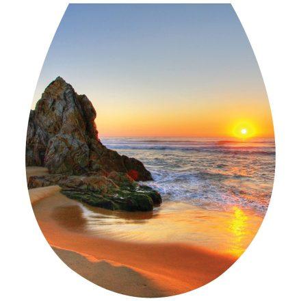 Beach, toalett díszítő matrica - Dekoráció Webáruház