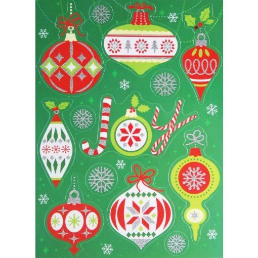 Karácsonyfadíszek, karácsonyi ablakmatrica a Dekoráció Webáruházban