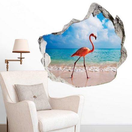 Sétáló flamingó, faltörő falmatrica a Dekoráció Webáruházban