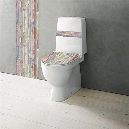 Színes lécek, toalett dekor csomag - Dekoráció Webáruház