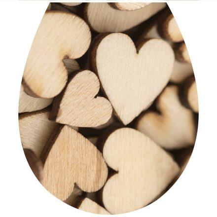 Fa szívek4, toalett díszítő matrica - Dekoráció Webáruház