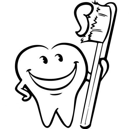 Teliszáj mosoly, fogászatra dekormatrica a Dekoráció Webáruház kínálatában
