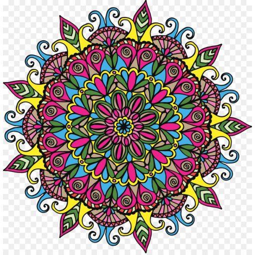 Élénk színek, mandala falmatrica a Dekoráció Webáruházban