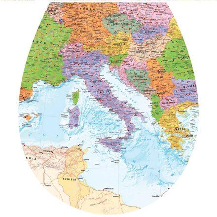 Térkép, toalett díszítő matrica - Dekoráció Webáruház