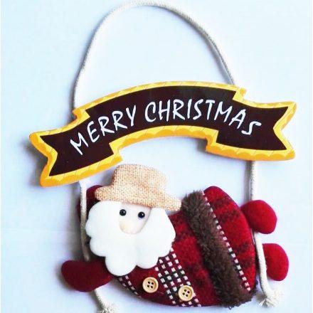 Merry Christmas Mikulás, karácsonyi ajtódekor a Dekoráció Webáruházban