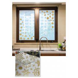 Arany hópelyhek, ablakmatrica a Dekoráció Webáruházba