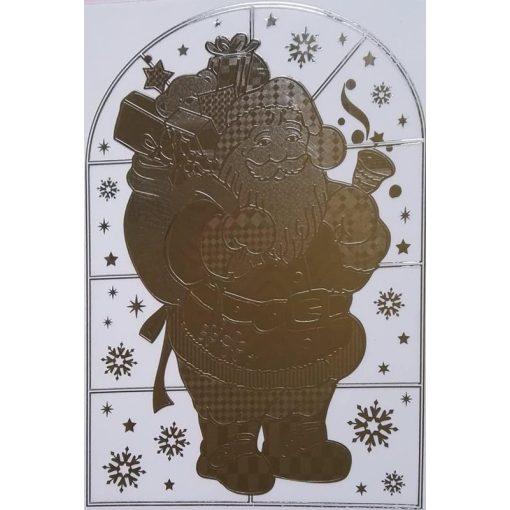Mikulás, karácsonyi tükrös ablakmatrica a Dekoráció Webáruházban