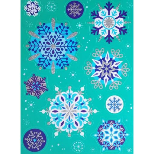 Hópelyhek, karácsonyi ablakmatrica a Dekoráció Webáruházban