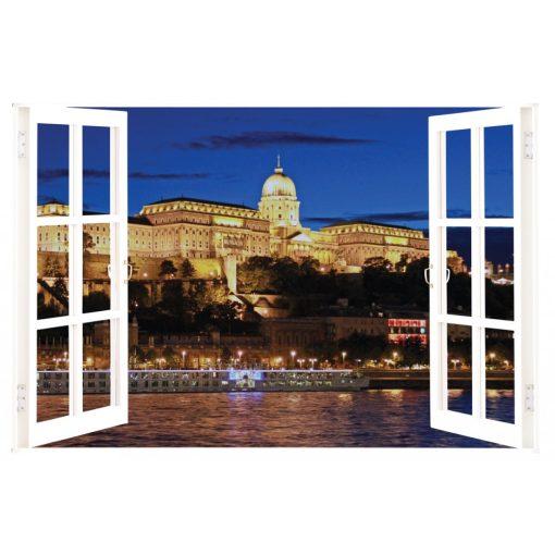 Budai Vár, ablakos falmatrica - Dekoráció Webáruház