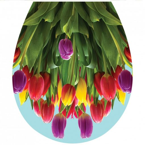 Tulipánok, toalett díszítő matrica - Dekoráció Webáruház