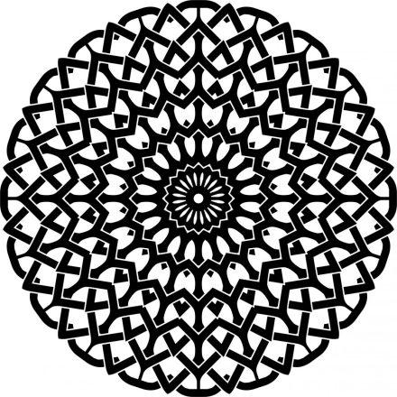 Mandala, fekete-fehér falmatrica a Dekoráció Webáruházban