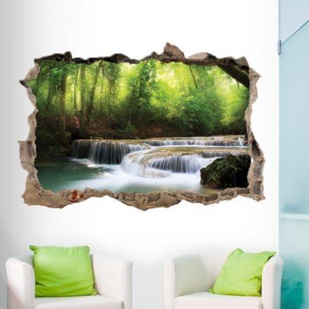 Erdő vízeséssel, faltörő falmatrica a Dekoráció Webáruházban