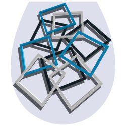 Absztrakt, 3D toalett díszítő matrica - Dekoráció Webáruház