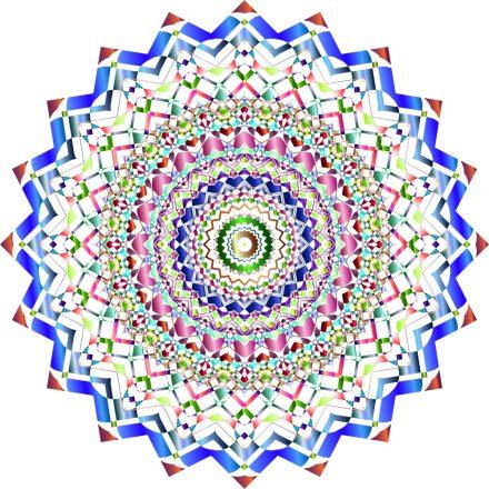 Kromatikus színek, mandala falmatrica a Dekoráció Webáruházban