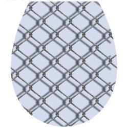 Drótháló, 3D toalett díszítő matrica - Dekoráció Webáruház