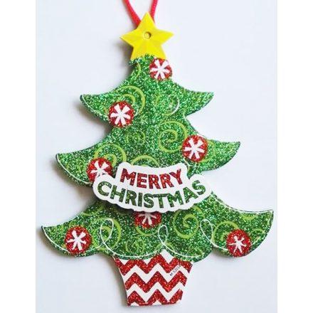 Karácsonyfa, karácsonyi ajtódekor a Dekoráció Webáruházban