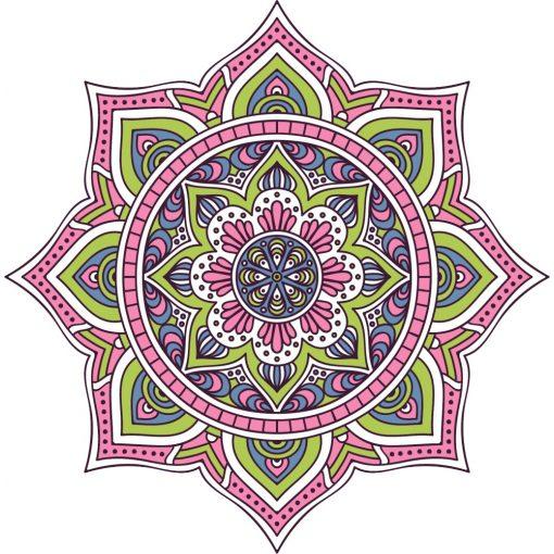 Pasztell mandala falmatrica a Dekoráció Webáruházban
