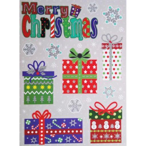 Merry Christmas, karácsonyi ablakmatrica a Dekoráció Webáruházban