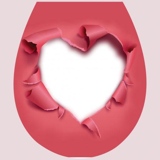 Szaggatott szív, 3D toalett díszítő matrica - Dekoráció Webáruház