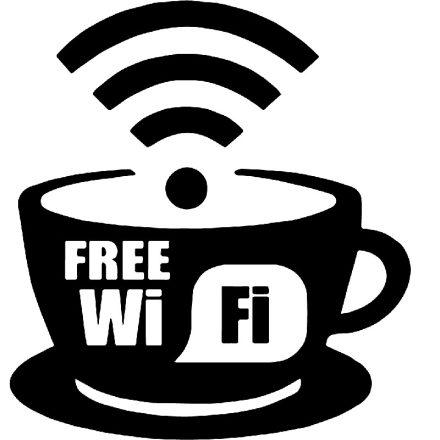 Free wifi coffee shop matrica a Dekoráció Webáruházban