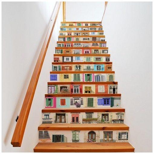 Ablakok 3D vízálló lépcsőmatrica