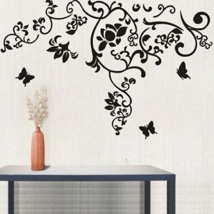 Nonfiguratív minta pillangókkal falmatrica a Dekoráció Webáruházban