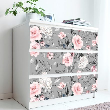 Vintage rózsa mintás 3D öntapadós tapéta szekrényre a Dekoráció Webáruházban