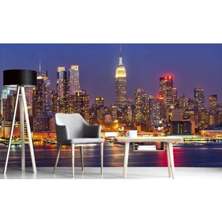 Kivilágított felhőkarcolók, poszter tapéta 375*250 cm