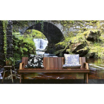 Vízesés híddal, poszter tapéta 375*250 cm