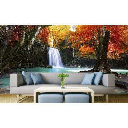 Őszi vízesés, poszter tapéta 375*250 cm