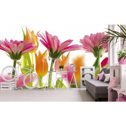 Tavaszi virágok, poszter tapéta 375*250 cm
