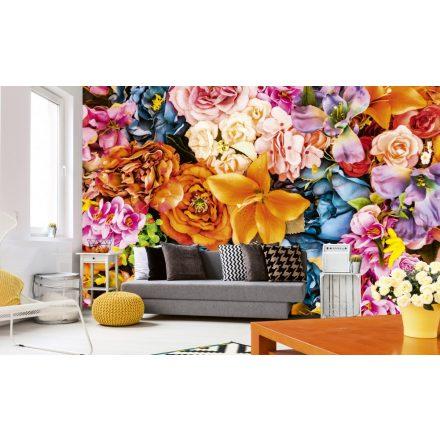 Virágos fal, poszter tapéta 375*250 cm