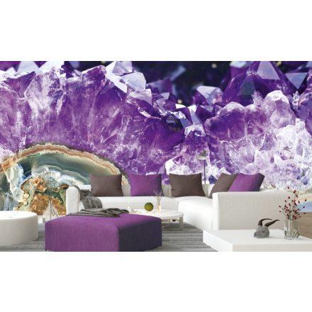 Lila kristály, poszter tapéta 375*250 cm