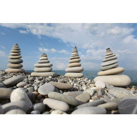 Épített kövek a tengernél, poszter tapéta 375*250 cm