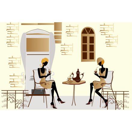 Kávézó nők, poszter tapéta 375*250 cm