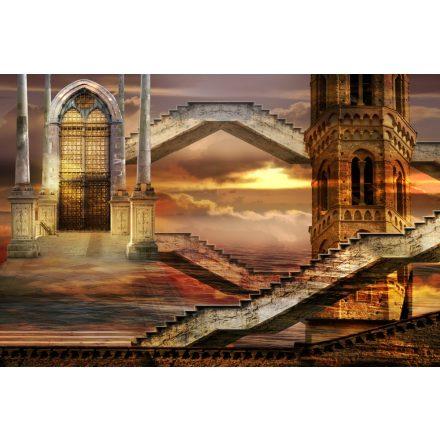 Lépcsők a kapuhoz, poszter tapéta 375*250 cm