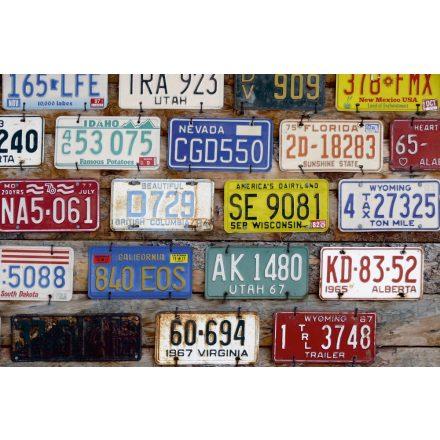 Rendszám táblák, poszter tapéta 375*250 cm