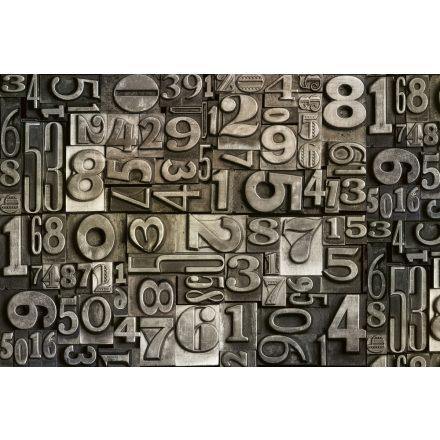 Fém számok, poszter tapéta 375*250 cm