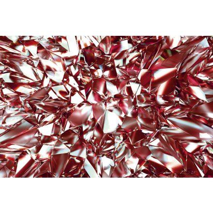 Vörös törött üvegfal, poszter tapéta 375*250 cm
