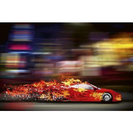 Tüzes autó, poszter tapéta 375*250 cm