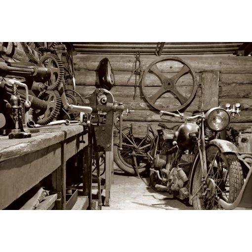 Régies garázs, poszter tapéta 375*250 cm