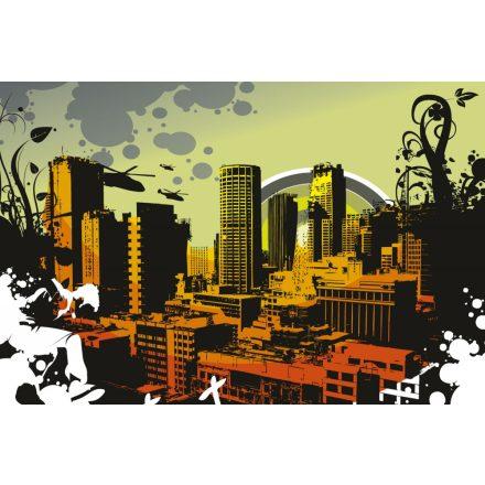 Rajzolt városkép, poszter tapéta 375*250 cm