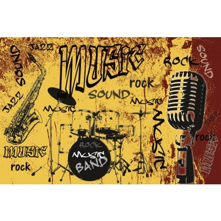 Zenész, poszter tapéta 375*250 cm