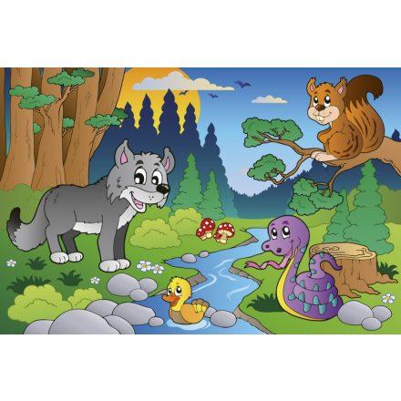 Az erdő állatai, poszter tapéta 375*250 cm