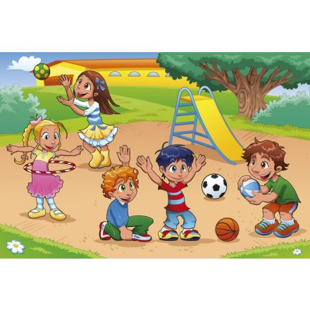 Gyerekek a játszótéren, poszter tapéta 375*250 cm