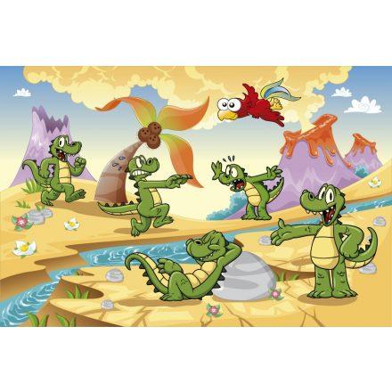 Krokodilok, poszter tapéta 375*250 cm