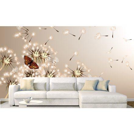 Pitypangok és pillangók, poszter tapéta 375*250 cm