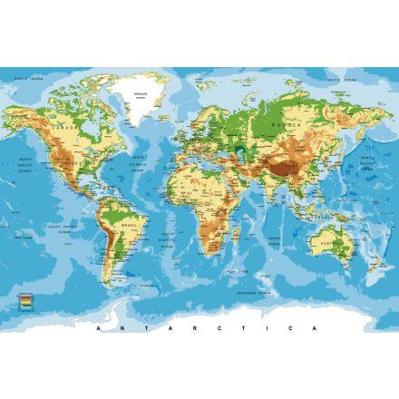 World map, poszter tapéta 375*250 cm